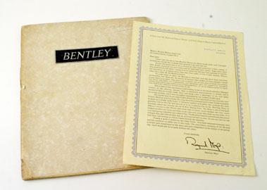 Lot 12-1936 Bentley 3.5 Litre Sales Brochure
