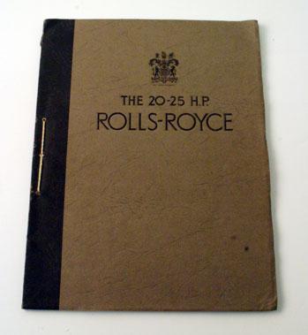 Lot 14-1936 Rolls-Royce 20-25 Sales Brochure