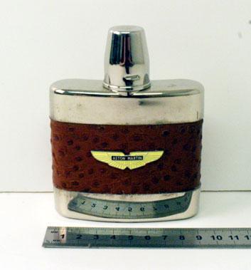 Lot 208-Aston Martin Badged Glass Spirits Flask