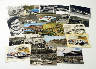 Lot 35-Motor Racing Postcards