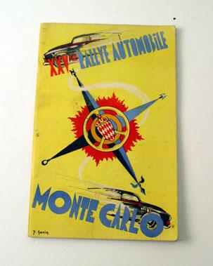 Lot 39-1955 Monte Carlo Rally Programme