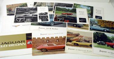 Lot 44-1960s Jaguar Sales Brochures