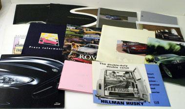 Lot 61-British Car Sales Brochures