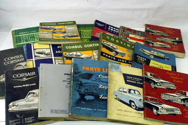 Lot 75-1950s/1960s Ford Parts Lists