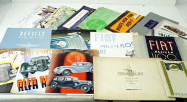 Lot 76-Pre-War Sales Brochures