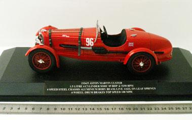 Lot 207-1934 Aston Martin Ulster 1:18 Scale Model