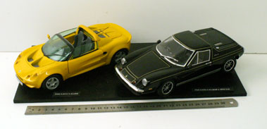 Lot 213-Lotus Europa & Elise 1:18 Scale Models