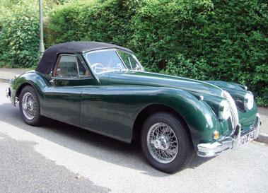 Lot 66-1956 Jaguar XK140 SE Drophead Coupe