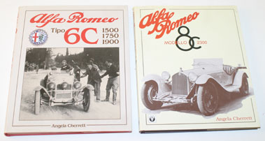 Lot 4-Alfa Romeo 6c & 8c Books By Angela Cherrett