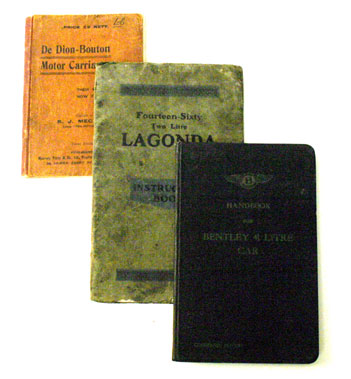 Lot 11-Pre-War Bentley, Lagonda & De Dion Handbooks