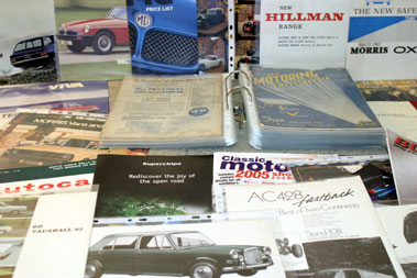 Lot 17-Assorted British Sales Brochures & Others
