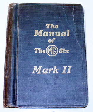 Lot 35-The Manual Of The Mg Six Mk II