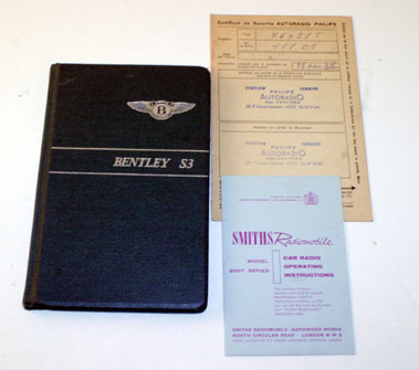 Lot 36-Bentley S3 Owners Handbook
