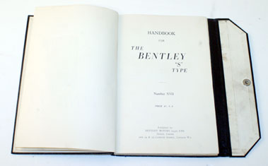 Lot 37-Bentley S-Type Owners Handbook