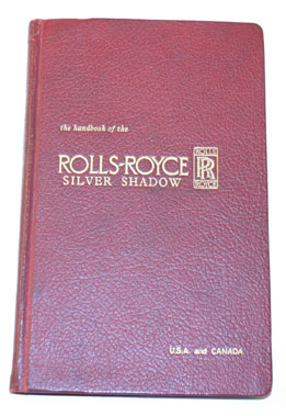 Lot 38-Rolls-Royce Silver Shadow Owners Handbook