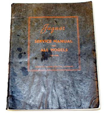 Lot 46-Jaguar 1.5/2.5/3.5 Litre Workshop Manual