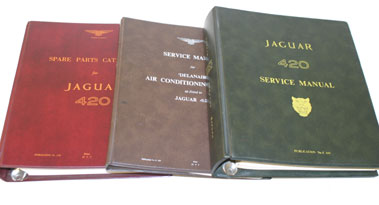 Lot 48-Jaguar 420 Factory Technical Literature