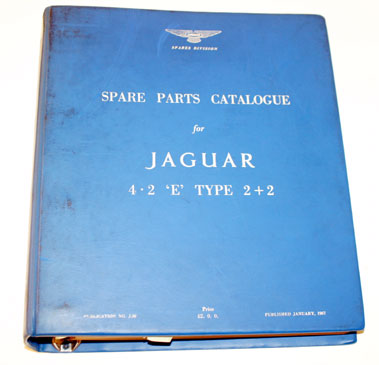 Lot 49-Jaguar E-Type 4.2 2+2 Spare Parts List