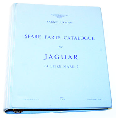 Lot 51-Jaguar Mk2 2.4 Litre Spare Parts List