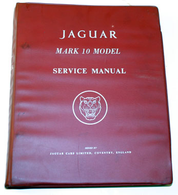 Lot 52-Jaguar Mark 10 Workshop Manual