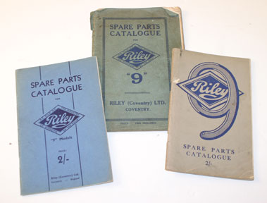 Lot 54-Riley 9 Spare Parts Catalogues