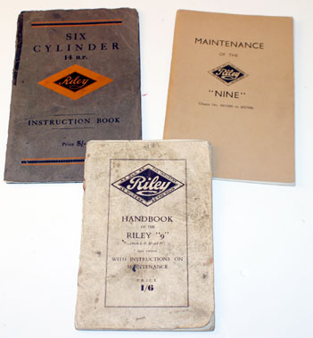 Lot 55-Riley 9 & 14 Factory Technical Literature