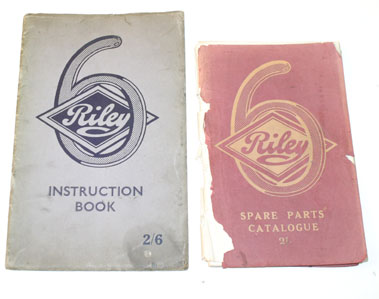 Lot 56-Riley Six Cylinder Handbook & Spare Parts List