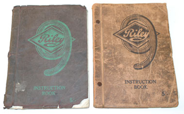 Lot 58-Riley 9 Instruction Books