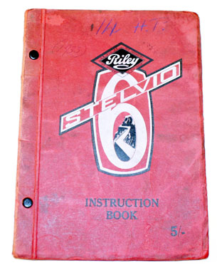 Lot 63-Riley Stelvio 6 Instruction Book
