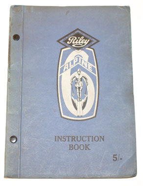 Lot 64-Riley Alpine 6 Instruction Book