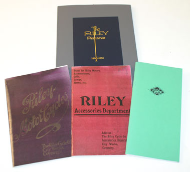 Lot 65-Reprint Pre-War Riley Literature