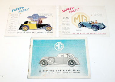 Lot 70-Pre-War Mg Sales Brochures