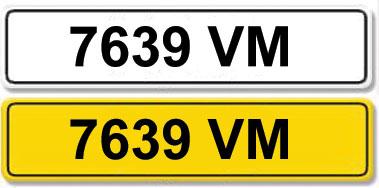 Lot 2 - Registration Number 7639 VM