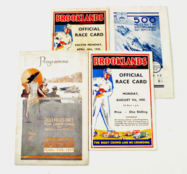 Lot 84-Pre-War Brooklands Race Programmes