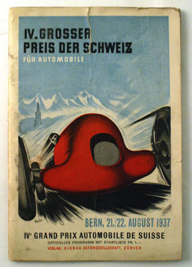 Lot 85-1937 Swiss Grand Prix Programme