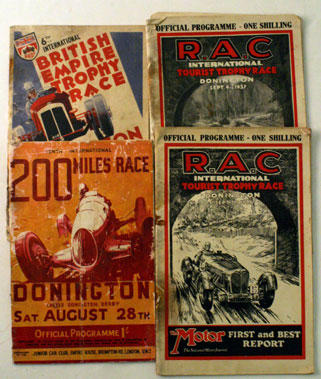 Lot 86-Pre-War Donnington Race Programmes