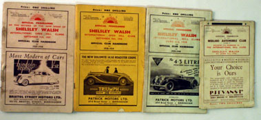Lot 87-Pre-War Shelsley Walsh Race Programmes
