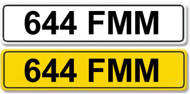 Lot 1 - Registration Number 644 FMM