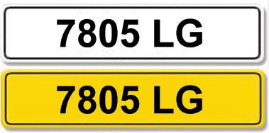 Lot 1-Registration Number 7805 LG