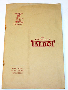 Lot 14-1923 Talbot Sales Brochure