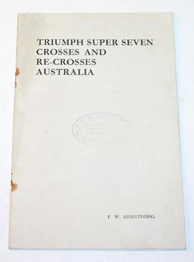Lot 18-Triumph Super Seven Across Australia Sales Broch Ure