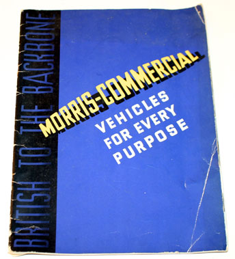 Lot 19-1936 Morris Commercials Sales Brochure