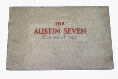Lot 21-1933 Austin Seven Sales Brochure