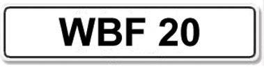 Lot 11-Registration Number WBF 20