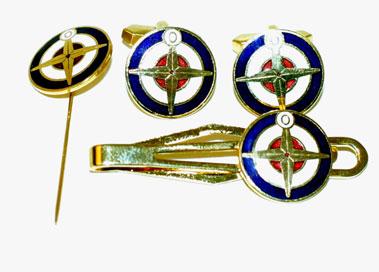 Lot 200-Brm Tie Pin/Cufflinks/Pin Badge Set