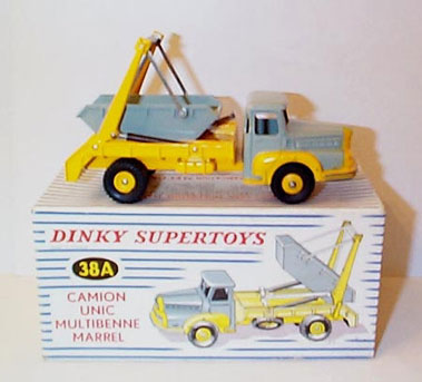 Lot 210-French Dinky No.38a Unic Marrel Skip Truck