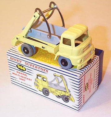 Lot 211-Dinky No.966 Marrel Multi Bucket Unit (Leyland L Ad Skip Cab Truck)
