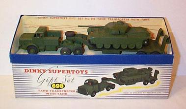 Lot 215-Dinky No.698 Tank Transporter Gift Set