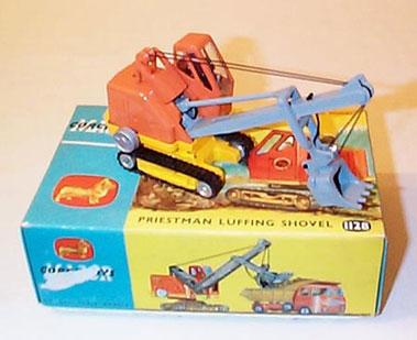 Lot 228-Corgi Major Toys No.1128 Priestman Cub Luffing S Hovel