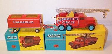 Lot 229-Corgi Major Toys Chipperfields Circus Vehicles